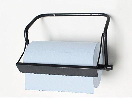 Metall Wand - Papierrollenhalter 40 cm - Putztuchrollen-Wandhalter 51x22x36 cm in Vollmetallausführung