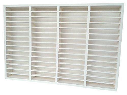 eCom Fabarius MC Regal für 60 Kassetten, Massiv Holz (Kiefer), fertig montiert, Farbe Weiß