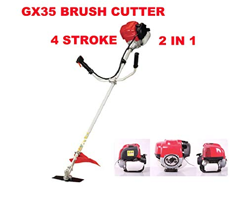 Best Review Of jat GX35 Brush Cutter 2 in 1 Grass Trimmer with Blade Weeder Trimmer Weed Head Lawn M...