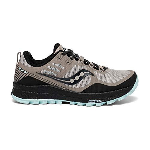 Saucony womens Xodus 10 Trail Running Shoe, Moonrock/Black, 8.5 US