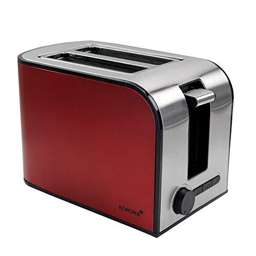Korona 21340 Toaster Edelstahl mit Brötchenaufsatz + Auftau- und Aufwärmfunktion