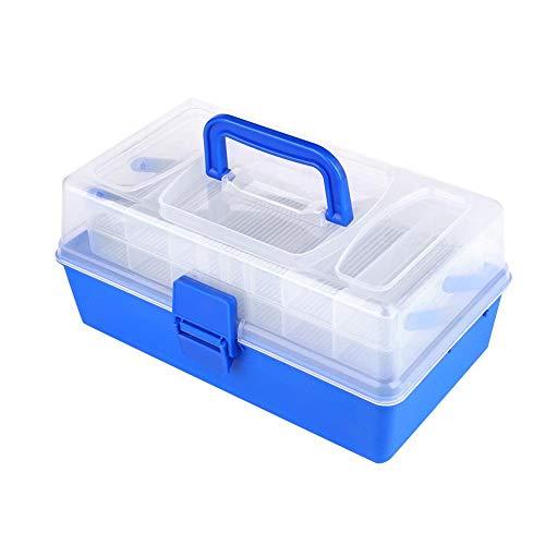 VGEBY1 Angelgerät Aufbewahrungsbox, 3 Schichten Kunststoff Angelköder Haken Angelgerät Container Box Angelzubehör