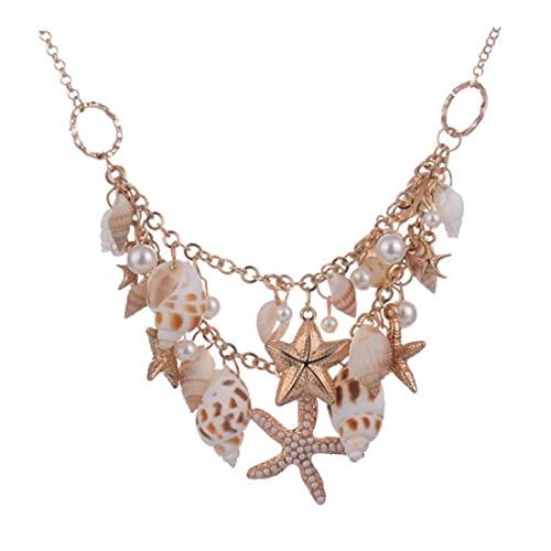 Fashion Natural Sea Shell Zeester Ketting Seashell handgemaakte sieraden Ocean Style Shell Decor voor Dames Meisjes feesten op het strand