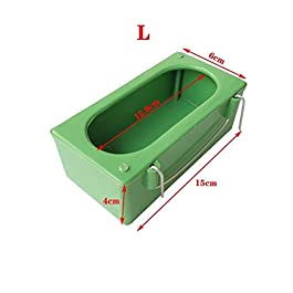 CHONGYA 10Pcs Bird Feeder Plastic Food Feeding Box Holder Parrot Pigeon Cage Feeder Bird Feeding Bowl for Food Water Cage Accessories
