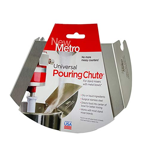 New Metro Design Universal Pouring Chute For Stand Mixer Stainless Steel