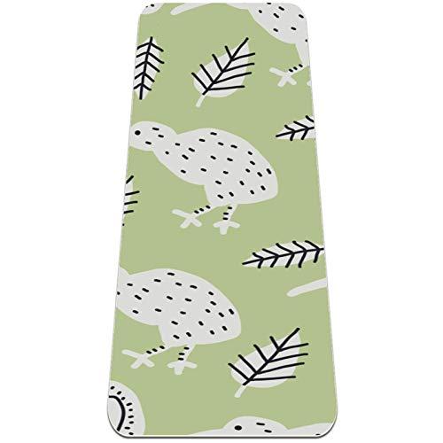 Eslifey Kiwi Bird - Esterilla de yoga gruesa antideslizante para mujeres y niñas, alfombrilla de ejercicio suave para pilates (72 x 24 pulgadas, 0,6 cm de grosor)