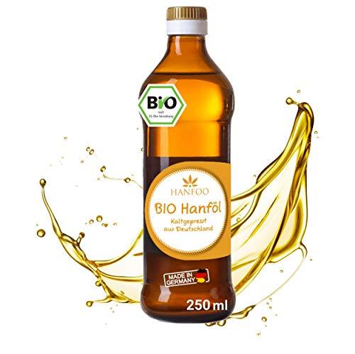 BIO Hanföl 250ml aus Deutschland kaltgepresst - Frisch von der Ölmühle