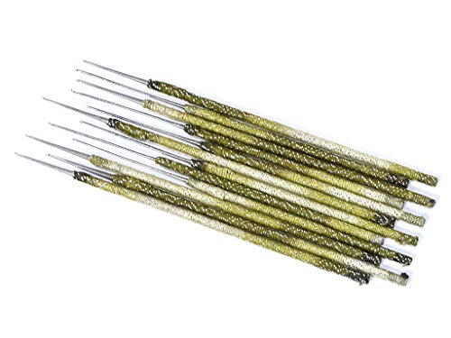 The Design Cart Green Designer Aari Embroidery Needles for Beading and Embroidery Work Purpose (Pack of 5 Needles)