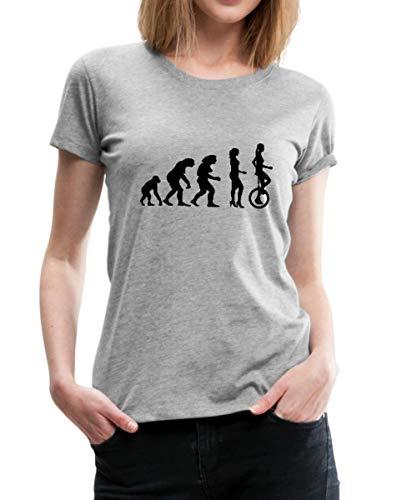 Evolution Einrad Frauen Premium T-Shirt, S (36), Grau meliert