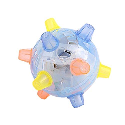 Jouet de balle a saut - TOOGOO(R)LED balle a saut ecouler son sensibles vibrant alimente enfants jouet de boule de clignotant