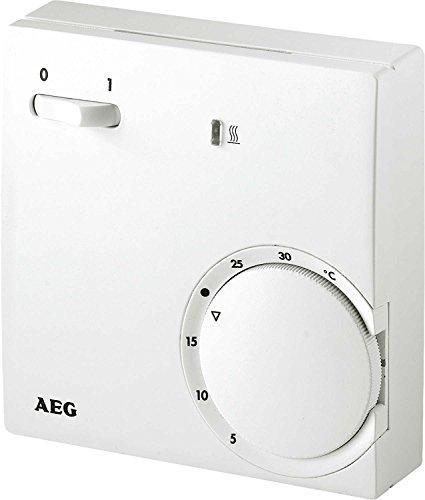 AEG Haustechnik 223298 Temperatur-Regler RT 601 SN, 2-Punkt, Temperatureinstellung 5-30 °C, Aufputz, Kontrolllampe, weiß