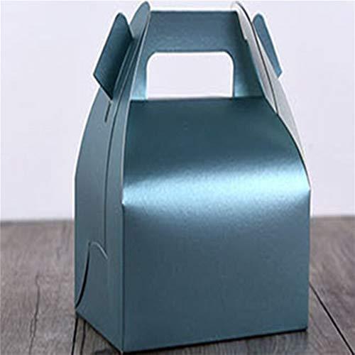 10 Teile / los Pralinenschachtel 4 Größe Hochzeitsgeschenkbox Käsekuchen Tragbare Backen Verpackung Geschenkbox Keks Zum Mitnehmen Packingh Großhandel ( Color : No.5 , Gift Bag Size : 11.5cm 8cm 6cm )