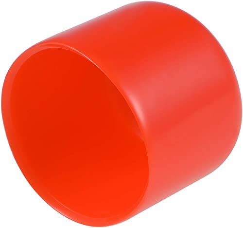 uxcell 20pcs Rubber End Caps 15mm ID Vinyl Round Tube Bolt Cap Cover Thread Protectors Red