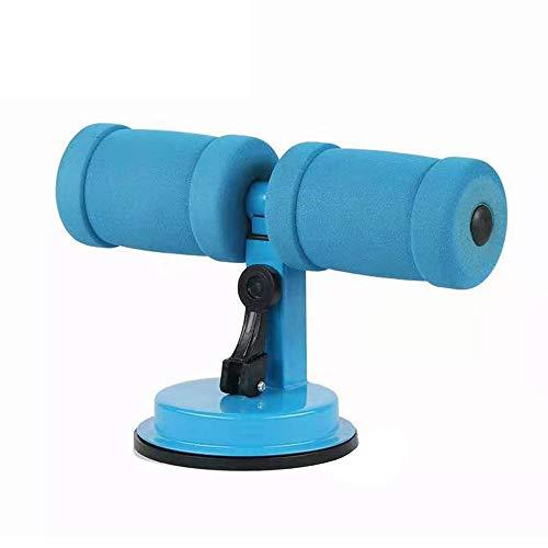 HZLXF1 Sit-up Aids Saugnapfbefestigung 3 Höhenverstellungen for Trainings-Bauchgewichtsverlust einfach zu tragen Geeignet for Heim und Büro, Fitnessgeräte Bauchtrainer (Color : Blue)
