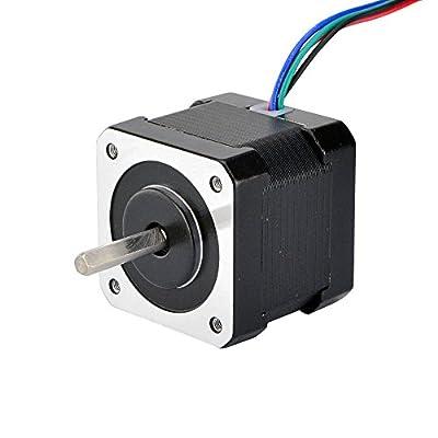 STEPPERONLINE Nema 17 Stepper Motor 45Ncm w/ 1m Cable & Connector for 3D Printer CNC Robot