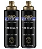 Ghirardelli Chocolate Sauce, Black Label 16oz Squeeze Bottle (Pack of 2)