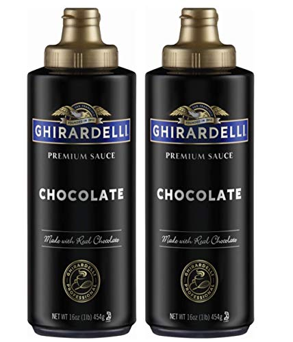 Ghirardelli Chocolate Sauce, Black Label 16oz Squeeze Bottle (Pack of...