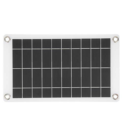 Pwshymi Kit de Cargador Solar pequeño Cargador de energía Solar Ligero 31X18cm Robusto, para iluminación Solar de jardín, iluminación para hogares pequeños