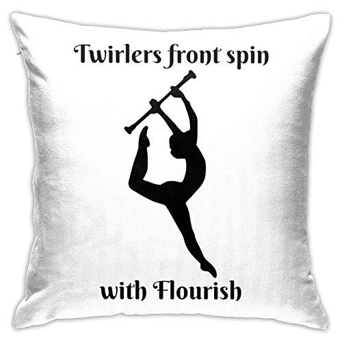 Baton Twirling - Fundas para cojines decorativos de 18 x 18 pulgadas para sofá, coche, sofá, cama, funda blanda