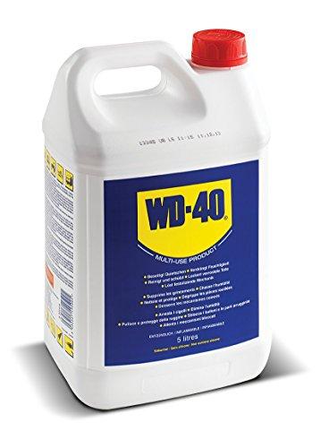 WD-40 • Produit Multifonction • Bidon • Sans Silicone • Non Conducteur • Compatible Plastiques, Caoutchoucs, Tous Métaux • 5 L , bleu