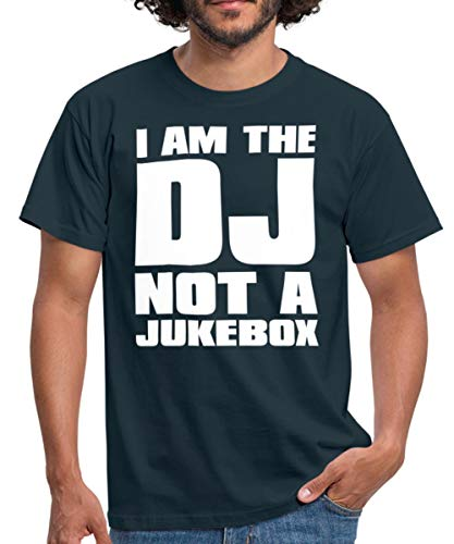 I am The DJ Männer T-Shirt, XL, Navy