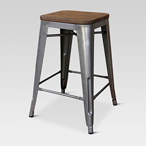 "24"" Hampden Industrial Wood Top Counter Height Barstool - Threshold™"