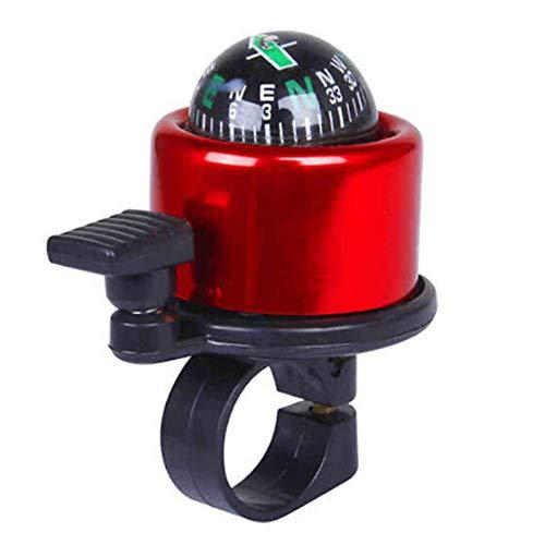 Jsmhh Fahrradklingel Fahrradklingel, Personalisierte Red Compass verzierte Glocken, Bike Bell for Erwachsene und Kinder, Crisp Lautes Wohlklang, Mountainbike Bell Rennrad Bell-Fahrrad-Zubehör for Kind