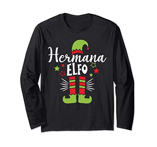 Hermana elfo Pijama de Navidad, Familia Xmas Elf Pajama Manga Larga
