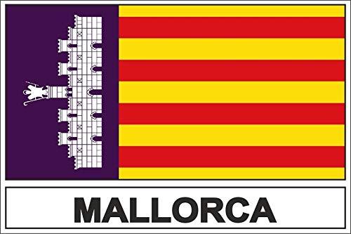 Akachafactory sticker vlaggen vlag vlag Mallorca