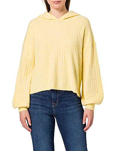 Only ONLCORINNE L/S Loose Hood Pullover KNT Sudadera con Capucha, Sunshine/Detail:W. Melange, L para Mujer