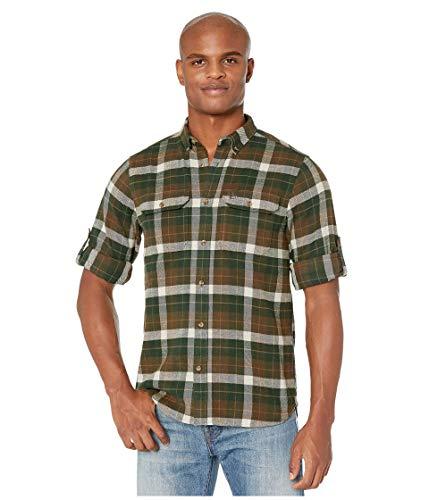 FJALLRAVEN Herren Singi Heavy Flannel Shirt M Hemd, Dunkles Waldgrün, XL