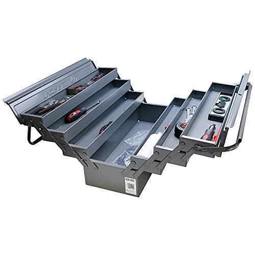 Hemmdal - Caja de herramientas vacía (metal, 6 compartimentos extraíbles)