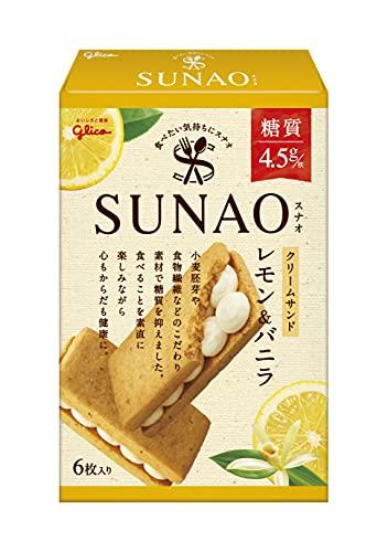 江崎グリコ SUNAO スナオ クリームサンド レモン&バニラ(1枚あたり糖質4.5g) ×7箱