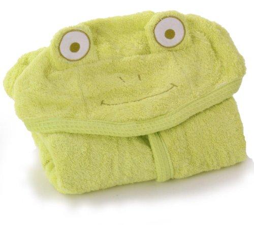 Bata de toalla suave - Rana Verde Chico