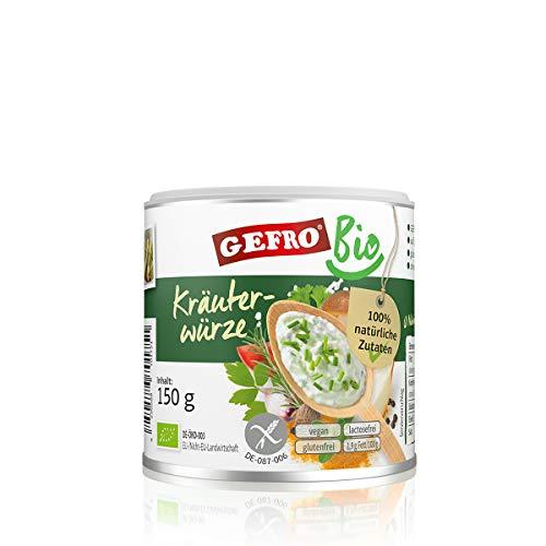 GEFRO BIO Kräuterwürze Kräutersalz zum Würzen & Verfeinern von Rohkost, Fleisch (150g)