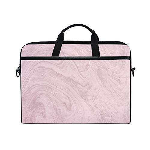 MONTOJ Pink Marble Laptop Bag 15 Inch Laptop Briefcase Laptop Messenger Bag Computer Case Laptop Shoulder Bag