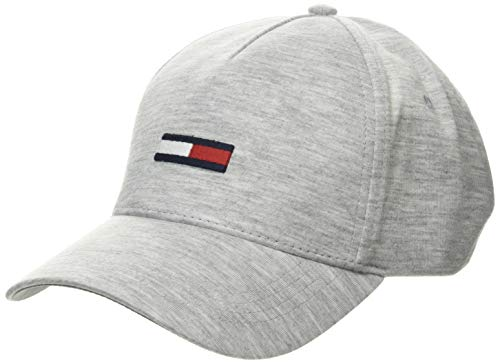 Tommy Hilfiger Tjw Flag Cap Jersey Gorro/Sombrero, Brezo Gris Pálido, OS para Mujer