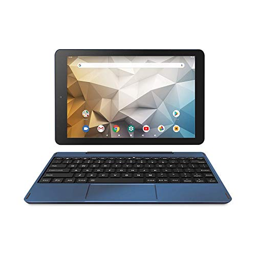 """RCA Newest Best Performance Tablet Quad-Core 2GB RAM 32GB Storage IPS HD Touchscreen WiFi Bluetooth with Detachable Keyboard Android 9 Pie (10"""", Navy)"""