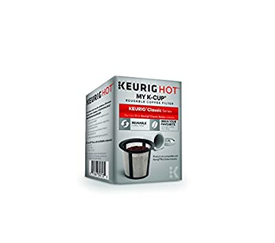 Keurig My K-Cup Universal Reusable K-Cup Pod Coffee Filter, Compatible with Keurig Classic/1.0 K-Cup Pod Coffee Makers, 1 Count, White