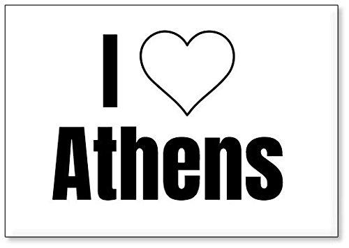 Mundus Souvenirs - J'adore Athens, Aimant de réfrigérateur (désign 2)