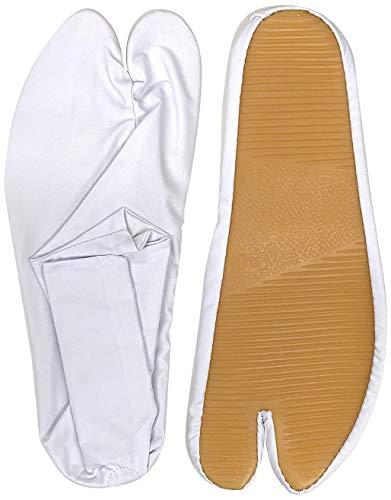 [日本最大級の祭用品専門店橋本屋] 【ゴム底足袋】白/濃紺 2色 サイズ14cm〜29cm (25.0cm, 白)