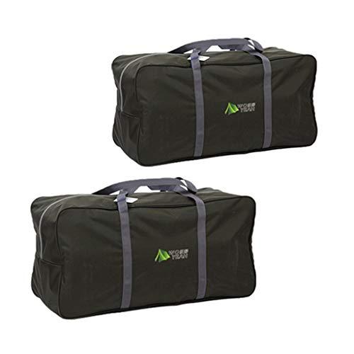N/A/a Bolsa de Lona para Acampar de Viaje Al Aire Libre de 2 Piezas Premium Bolsas con Cremallera para Equipo de Camping