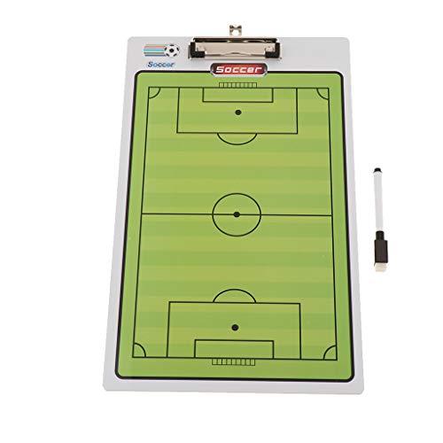 B Blesiya Pizarra de Fútbol/Baloncesto/Voleibol Plegable y Portátil, Material para Entrenador de Deportes de Aire Libre - Fútbol, Tal como se Describe