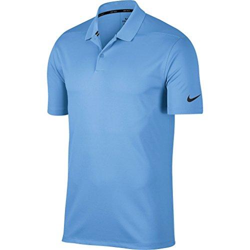 Nike - Polo Color sólido Victory para Hombre (M) (Azul Universidad/Negro)
