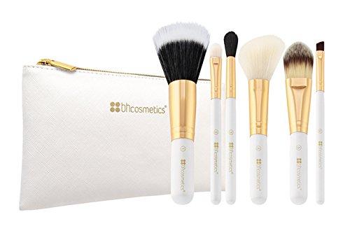 bhcosmetics Bright White Lot de 6 pinceaux avec trousse de maquillage
