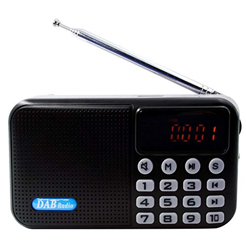 Digitale radio, DAB/DAB+/FM, draadloze bluetooth-opname, transistor, radio, stereo-ontvanger, LCD-display, wekker, slaaptimer, stereo geluidssysteem