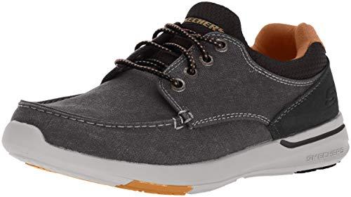 Skechers Men's Relaxed Fit-Elent-Mosen Boat Shoe,black,10 M US