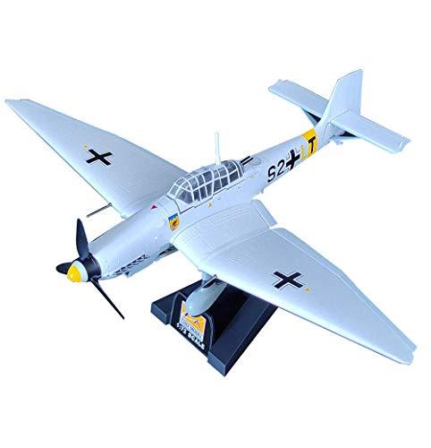 GLXLSBZ Modelo de Caza, Modelo de plástico de Bombardero de Buceo alemán JU87D-3 Stuka a Escala 1/72, coleccionables y Regalos para Adultos, 8,3 Pulgadas x 6,3 Pulgadas