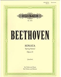 Beethoven, Ludwig - Sonata No. 5 in F Major Spring Op. 24 for Violin and Piano - by Joachim Peters