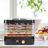Essiccatore frutta e verdura 5 vassoi Disidratatore per Alimenti Essiccatore Alimentare Macchina disidratatore alimentare per apparecchi Temperatura regolabile (35 ° C-70 ° C) Timer di 24 ore(EU)